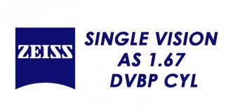Линза для очков ZEISS Single Vision AS 1.67 DVBP CYL