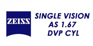 Линза для очков ZEISS Single Vision AS 1.67 DVP CYL